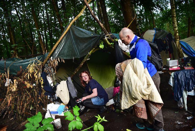 Al jaren in een tentje in het bos: ghb-verslaafden zijn 'te gevaarlijk' voor de nachtopvang