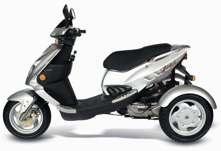 Een scooter als deze, van het model T-Rex, werd gestolen.