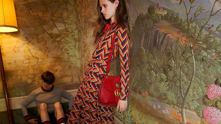Het inmiddels verwijderde beeld van het Gucci-model dat volgens de Britten te dun is. Beeld ASA / Gucci
