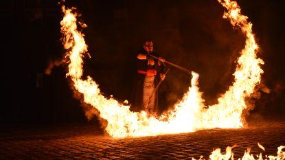Spectaculaire vuurshow mooie afsluiter van circus- en straattheaterfestival