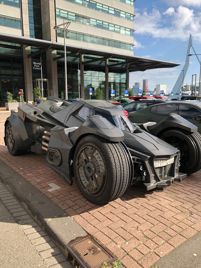 Batman was gisteren even in Rotterdam.