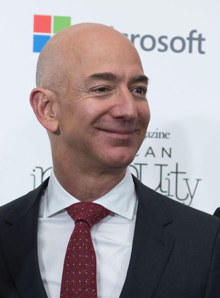 Ook de CEO van Amazon, Jeff Bezos, investeert in het BEV-fonds. Beeld AFP