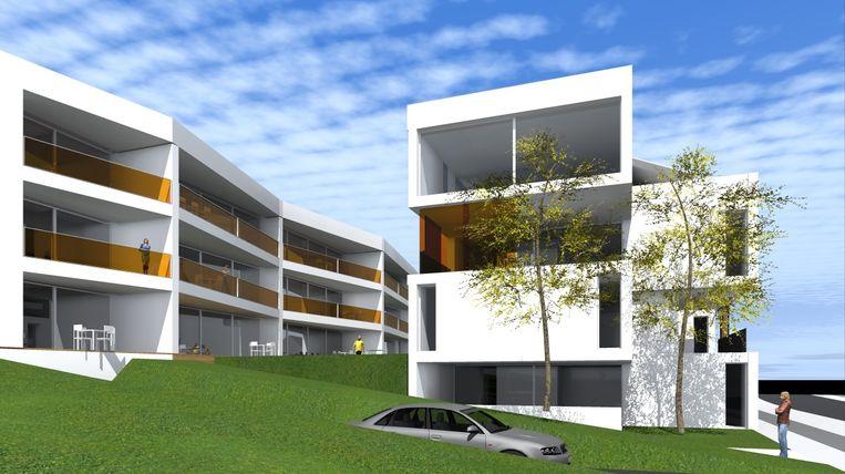 Zo zullen de twee appartementsblokken die op de plaats van Alumetal komen eruit zien.