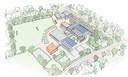 De eerste schets van de nieuwe campus van het Markland College Oudenbosch.