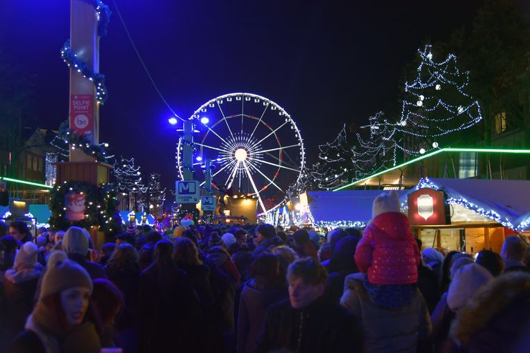 De kerstmarkt in Brussel