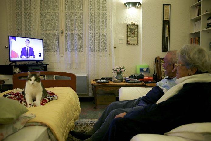 De Franse president Macron hield dinsdagavond een televisietoespraak over de coronamaatregelen.
