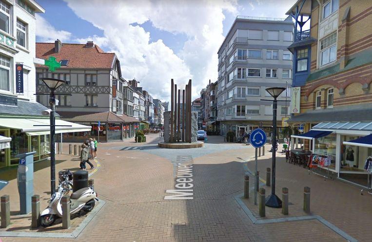 De rotonde in de Meeuwenlaan.