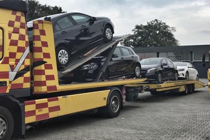 De in beslag genomen voertuigen in Enschede