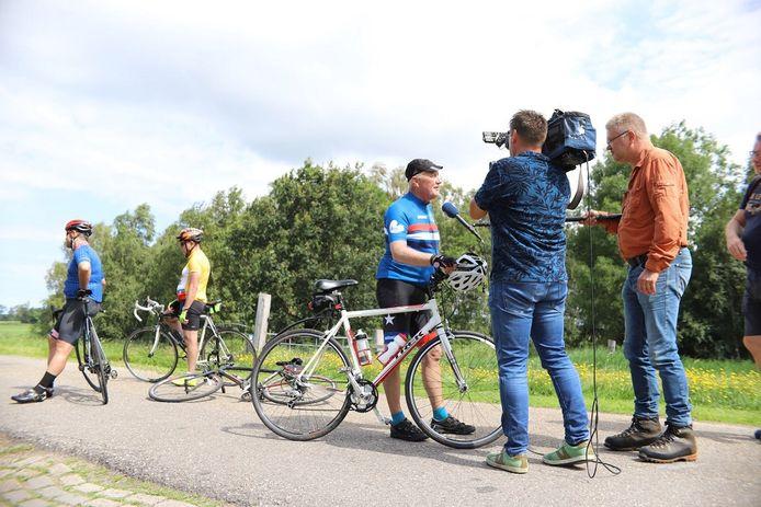 Hoekstra tijdens een interview met Friese media.