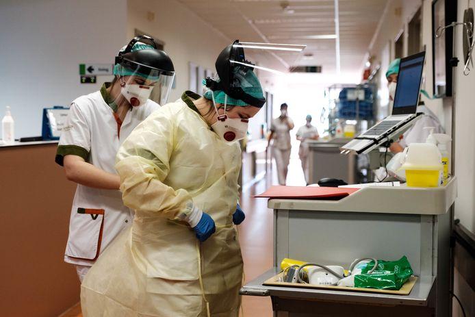 Het Jessa Ziekenhuis in Hasselt maakt zich klaar voor een stijging in opnames van coronapatiënten.