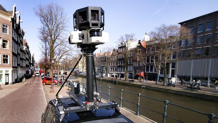 De Google Streetview auto op de Prinsengracht Beeld ANP