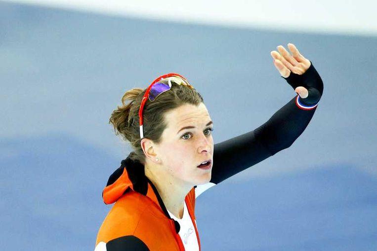 Ireen Wüst na haar 1000 meter Beeld anp