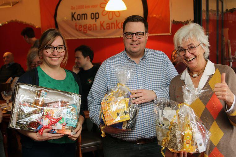 Nele Schrevens, Stef Vandycke en Bernadette Deckx waren de winnaars van de quiz.