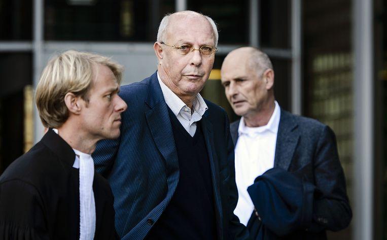 Hubert Mollenkamp (M), tijdens een schorsing bij de rechtbank van Amsterdam. Beeld anp