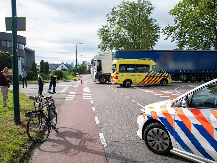 Bij een aanrijding in IJsselstein raakte vanmorgen een fietser gewond.