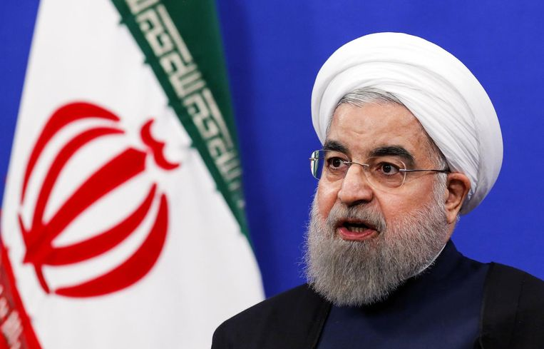 De Iraanse president Hassan Rohani .