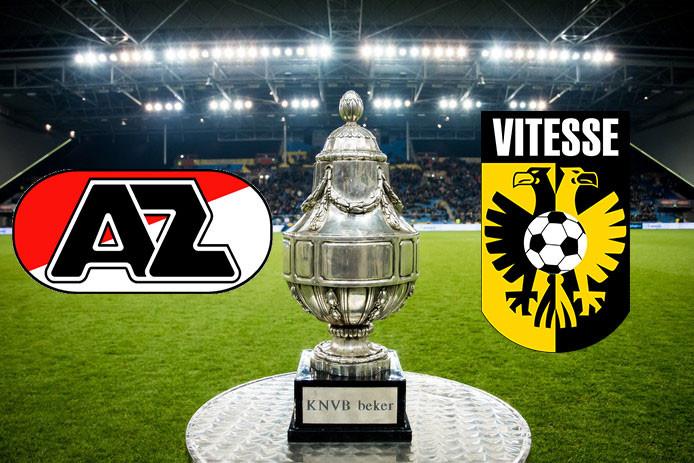 De bekerfinale tussen AZ en Vitesse is op zondag 30 april om 18.00 uur.