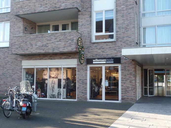 De winkel van Willemsen Mode in Groesbeek. Foto: Joop Verstraaten