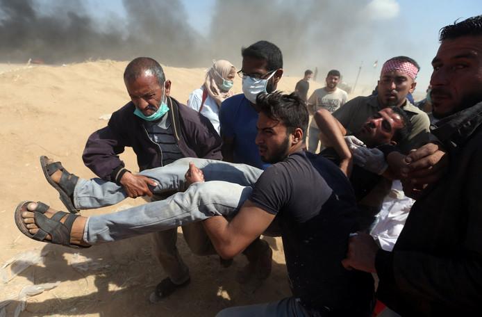 Ook gisteren vielen er weer gewonden onder Palestijnse demonstranten in de Gazastrook.