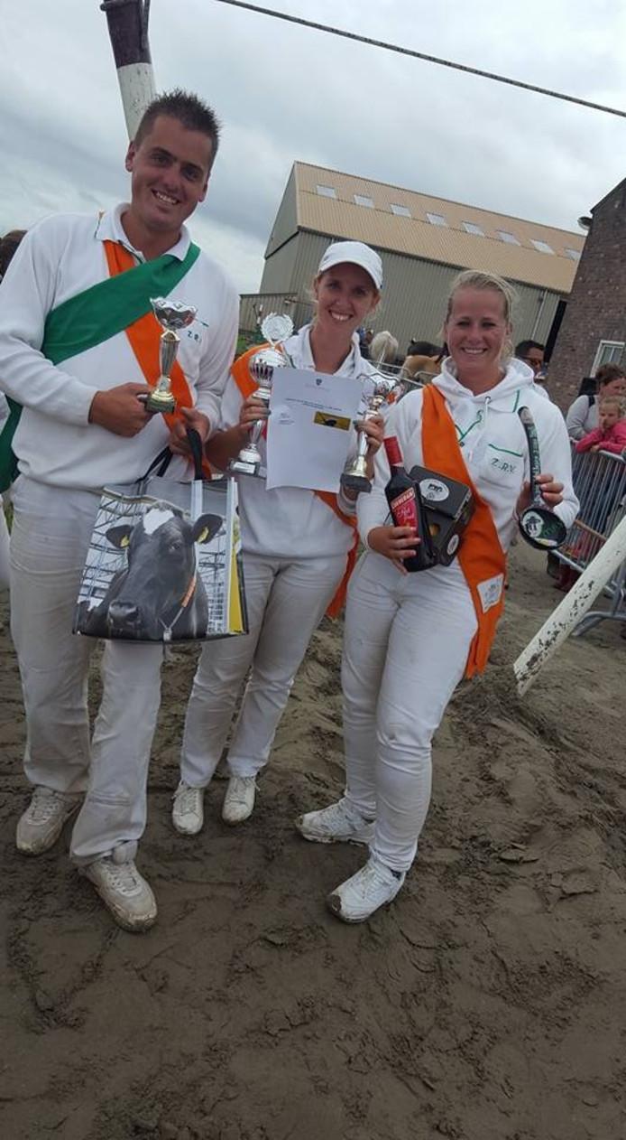 De winnaars in Schellach