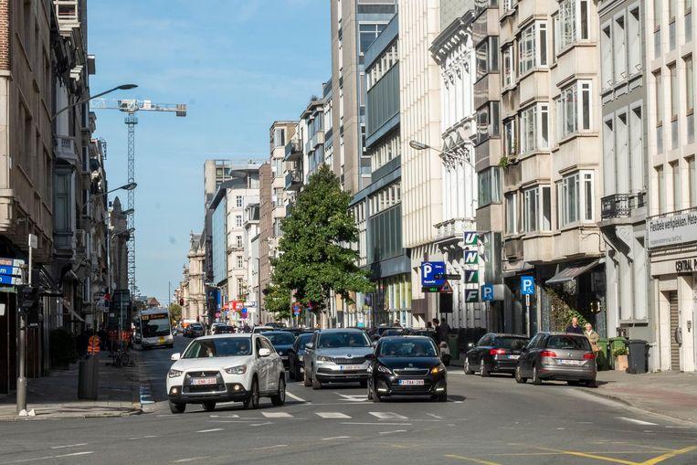 De Quellinstraat, een van de 'street canyons' in de stad, scoort archislecht.