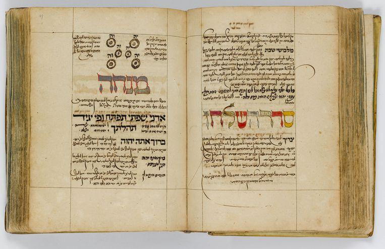 Dagelijks gebedenboek volgens Sefardische ritus, met kabbalistisch commentaar. Beeld Braginsky Collection, Zürich