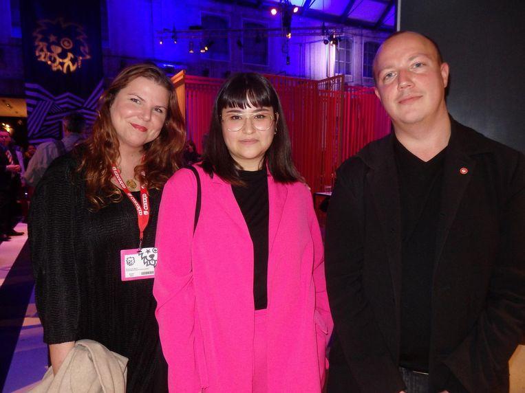Team Cinekid Festival: Sandra van Beers, Manique Hendricks en Ward Janssen. Beeld Schuim