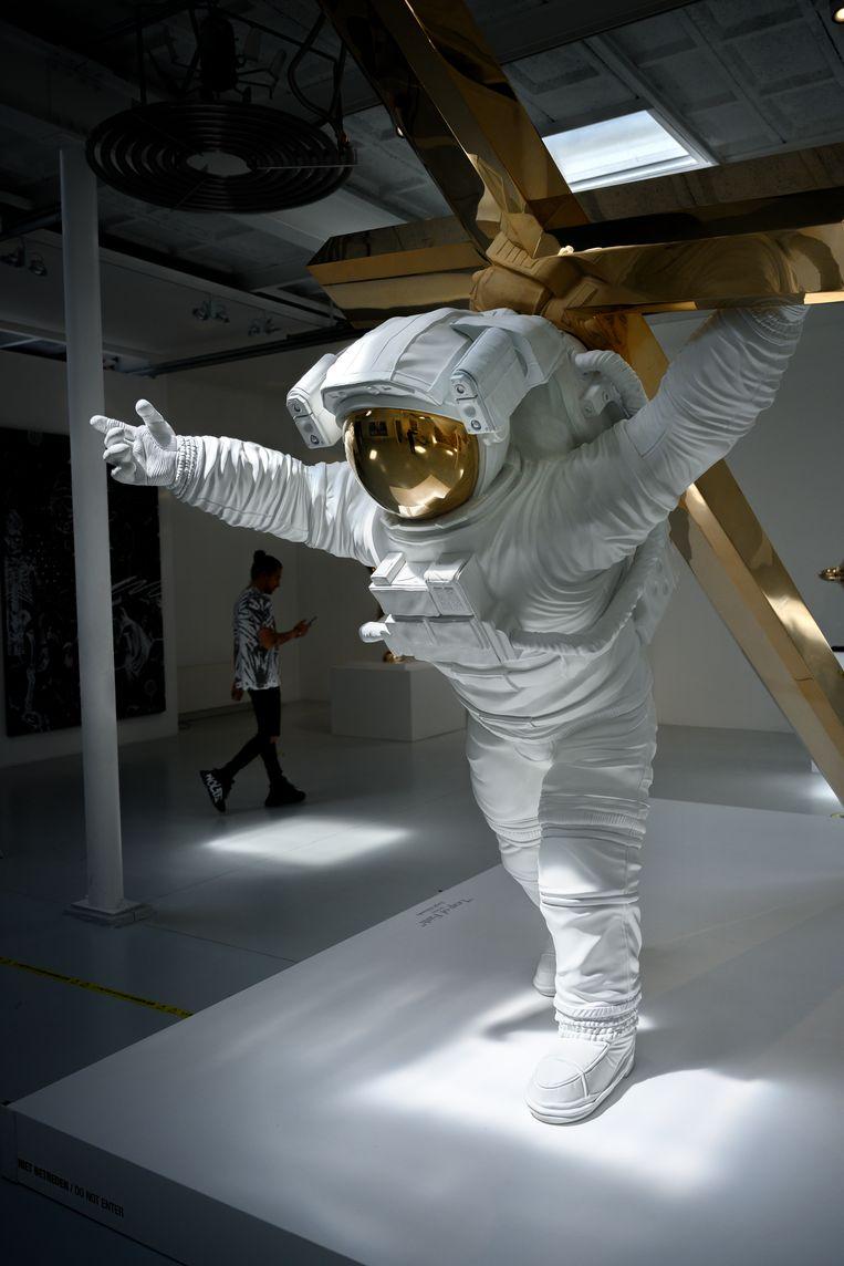 Een van de astronauten van Klibansky. Beeld  Bram Petraeus