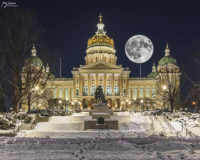 Tony Simons maakte deze foto gisteren in Iowa (Verenigde Staten).