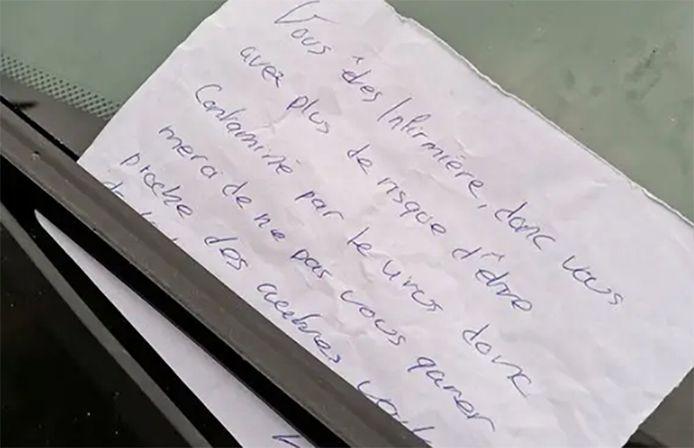 Une infirmière bretonne a été invitée à se garer plus loin pour ne pas approcher les autres véhicules.