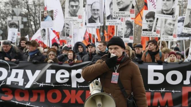 Duizenden eisen in Moskou vrijlating van politieke gevangenen