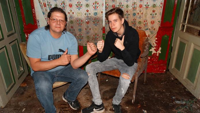 Angelo Mullekes en zijn kompaan CJ Looman.