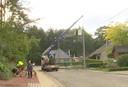 De nutsmaatschappij Fluvius kwam ter plaatse om de schade aan het elektriciteitsnet te herstellen.