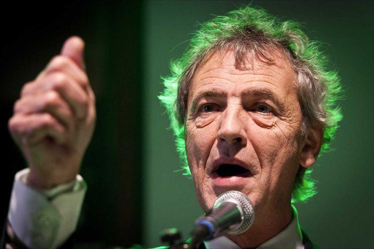 Roger van Boxtel van D66 houdt een overwinningsspeech in 2011. Beeld ANP