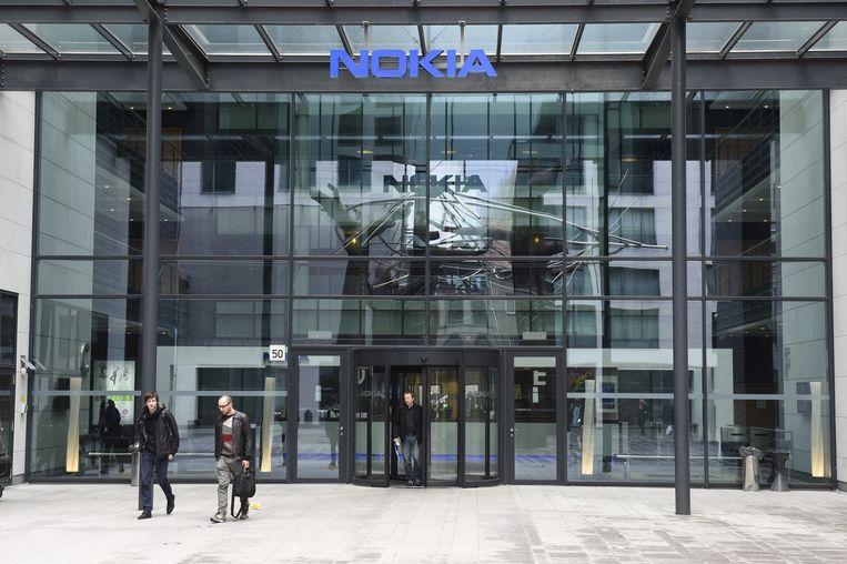 Het gebouw van telecombedrijf Nokia in Antwerpen.