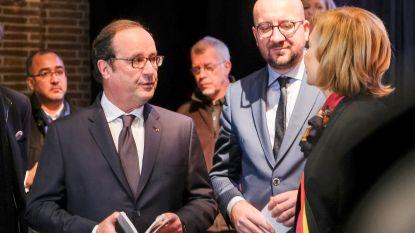"""Ex-president François Hollande brengt bezoek aan Molenbeek: """"Symbolisch om hier twee jaar na aanslagen te zijn"""""""