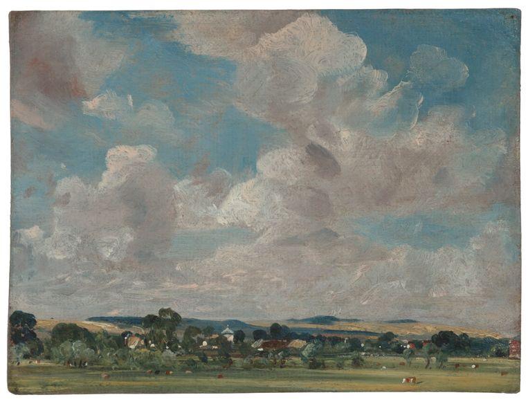Gezicht op het dorp West Harnham, 1820, olieverf op papier  Beeld John Constable / Teylers Museum
