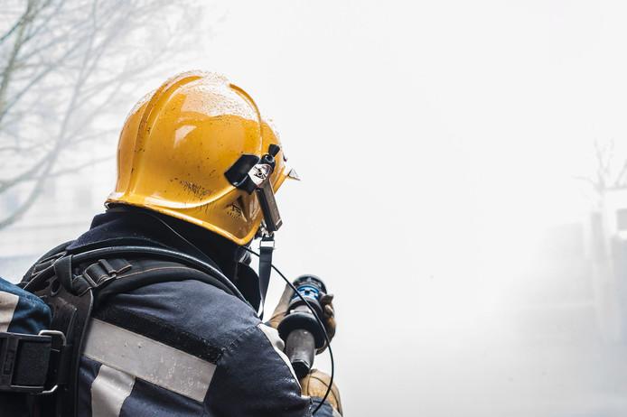 Brandweer aan het blussen
