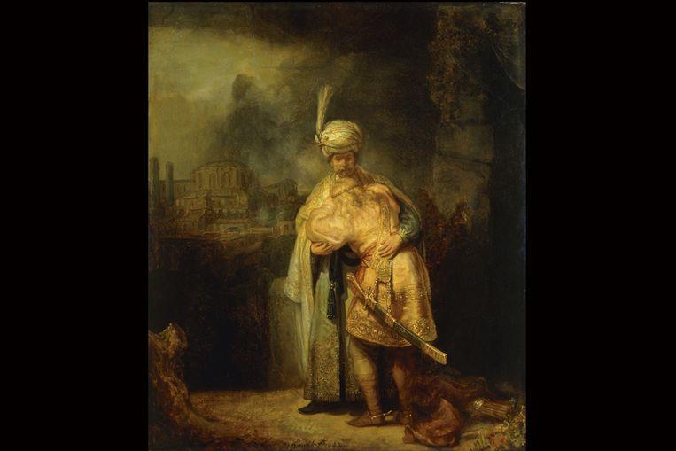 David en Jonathan (Collectie Hermitage) Beeld