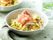 Wat Eten We Vandaag: Tagliatelle in makkelijke roomsaus met prosciutto