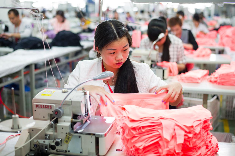 De Zhejiang Bangjie Digital Knitting Share factory, waar kleding voor o.a. Lidl, Adidas, Puma, H&M en Victoria's Secret wordt geproduceerd. Beeld Photonews