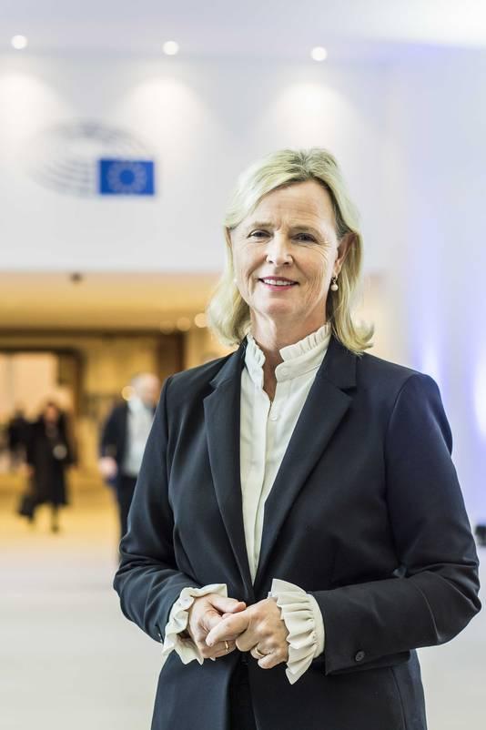 Annie Schreijer-Pierik (CDA) in het Europees Parlement in Brussel.