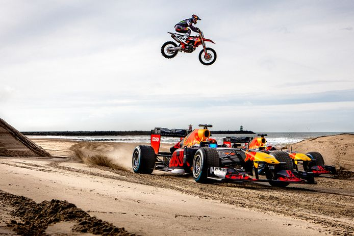 Jeffrey Herlings en Max Verstappen.