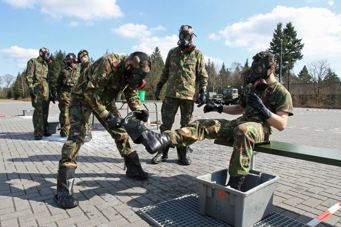 Infanteristen in opleiding. Foto ter illustratie.