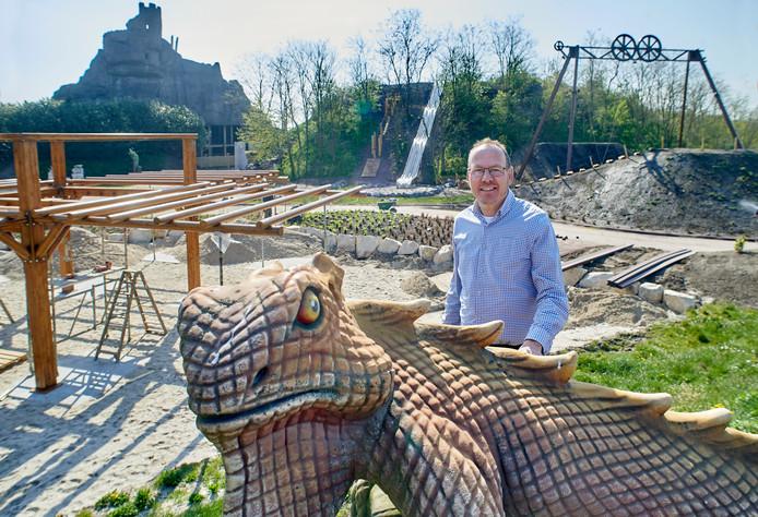 Ton Derks in de Oervallei, de laatste aanwinst van Hemelrijk die zondag officieel geopend wordt.