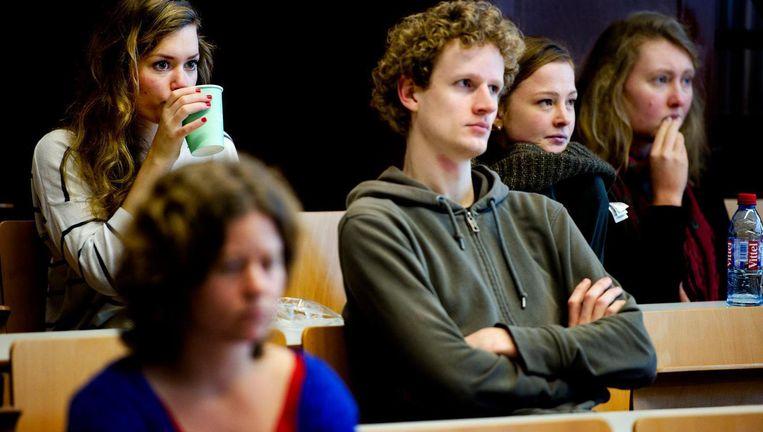 Studenten aan de Universiteit van Amsterdam Beeld ANP