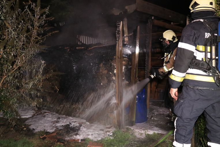 De laatste brand was dat van een houten tuinhuis.