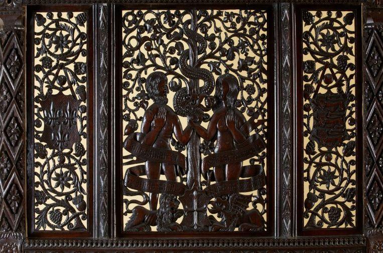 De gezichten van Adam en Eva vertonen veel gelijkenissen met de portretten van koning Henry en zijn bruid.