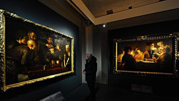 Werk van Caravaggio in het Uffizi-museum in Florence. Beeld epa