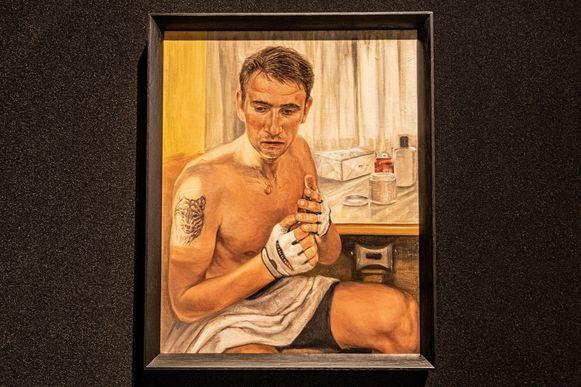 'Frank Vandenbroucke', een kunstwerk van Deborah Nyst.